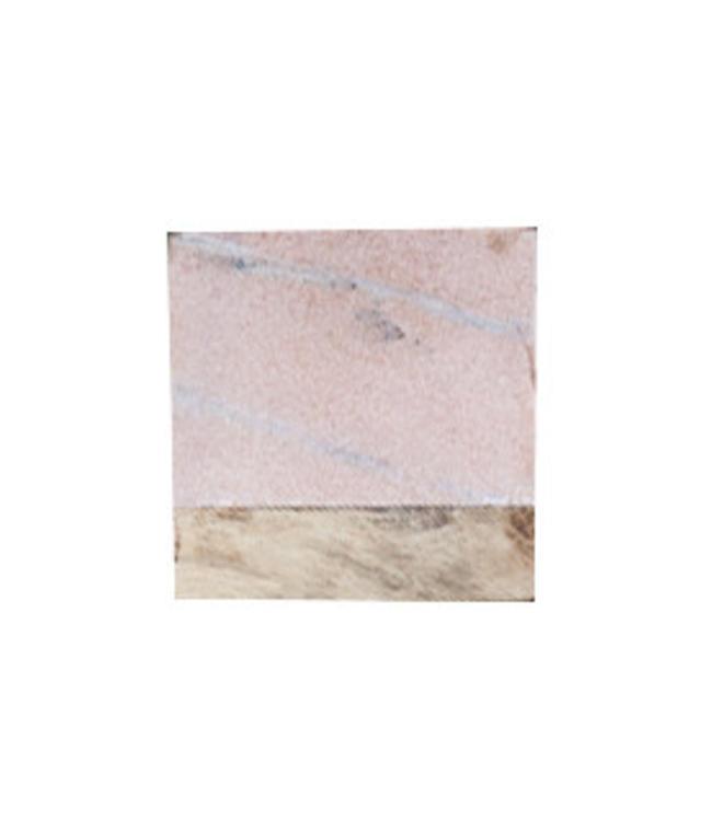 Set van 4 Makrana onderzetters roze marmer