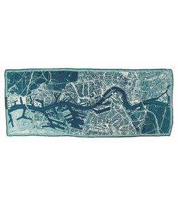 Barentsz Cityscarf Rotterdam Cyanotype Cashmere