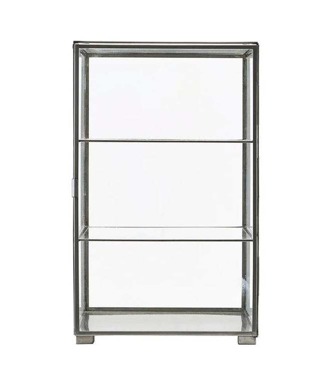 House Doctor Small Cabinet Glass Zinc