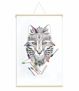 Whiteboard Magnetposter Tribal Fox