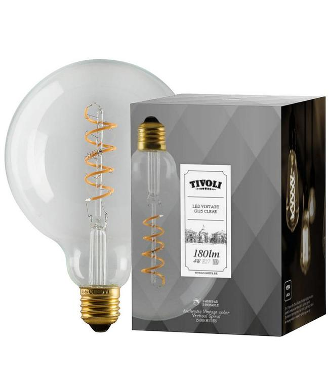 Tivoli Vintage Clear LED Lamp E27 125mm