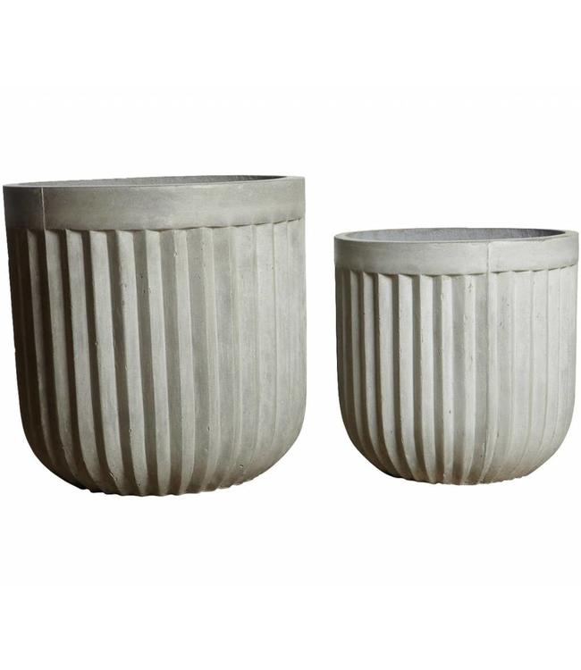 House Doctor Plantenpot Concrete Set van 2
