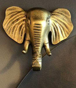 Vanilla Fly Wall Hook Elephant  Brass