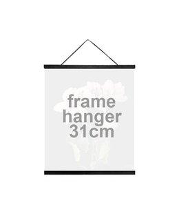 Vanilla Fly Wooden Frame Hanger Black | 31 cm