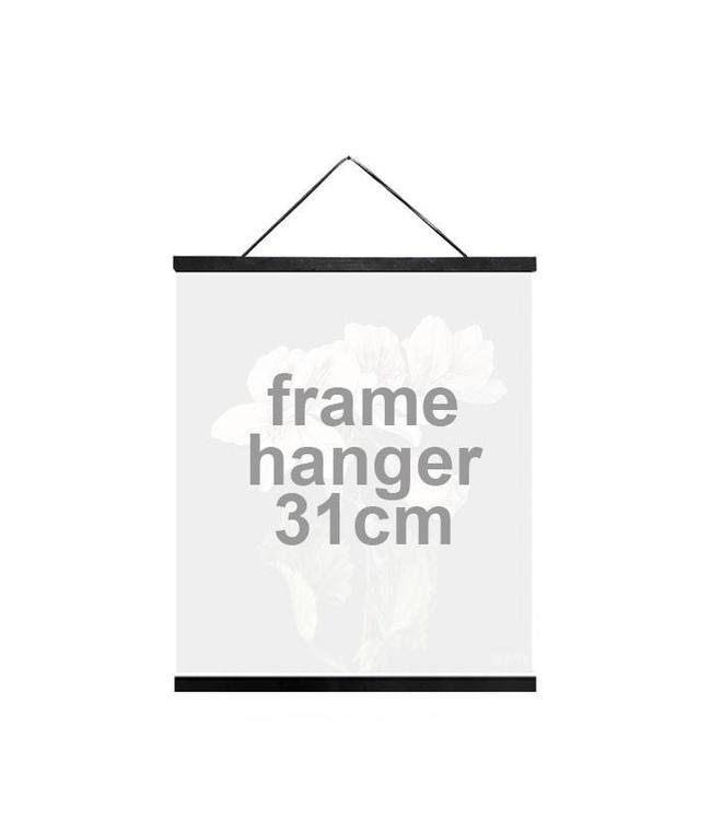 Vanilla Fly Houten Posterhanger Zwart | 31 cm
