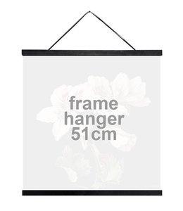Vanilla Fly Wooden Frame Hanger Black | 51 cm