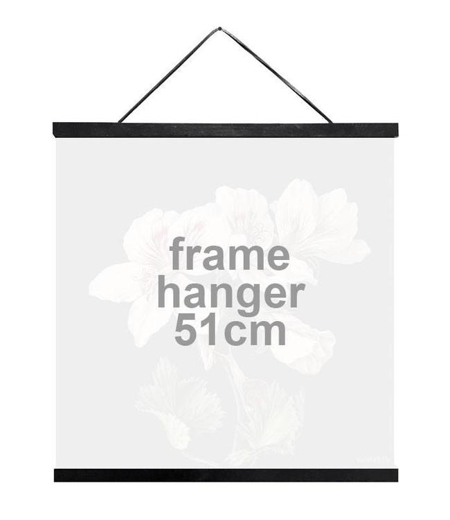 Vanilla Fly Houten Posterhanger Zwart   51 cm