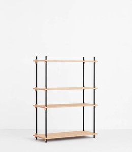 Moebe Shelving System Medium  Single Oak