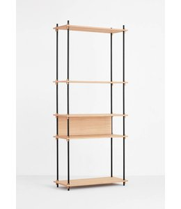 Moebe Shelving System Tall Single Oak