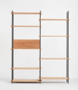 Moebe Shelving System Tall Double Oak