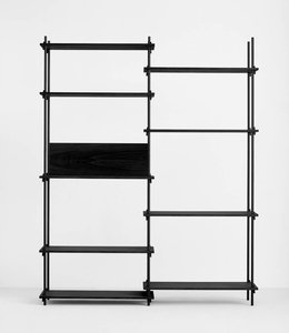 Moebe Shelving System Tall Double Black