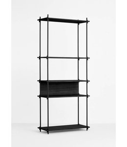 Moebe Shelving System Tall Single Black