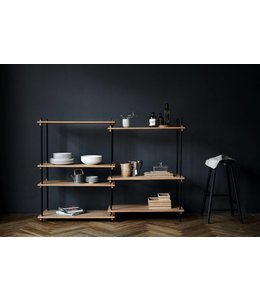 Moebe Shelving System Medium Double Oak
