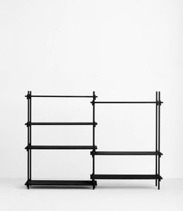 Moebe Shelving System Medium Double Black