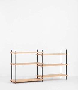 Moebe Shelving System Low Double Oak