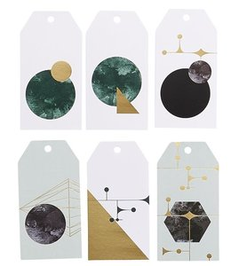 House Doctor Geometry Gift Tags goud