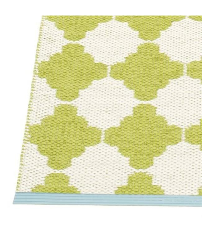 Pappelina Marre rug lime edge in turquois