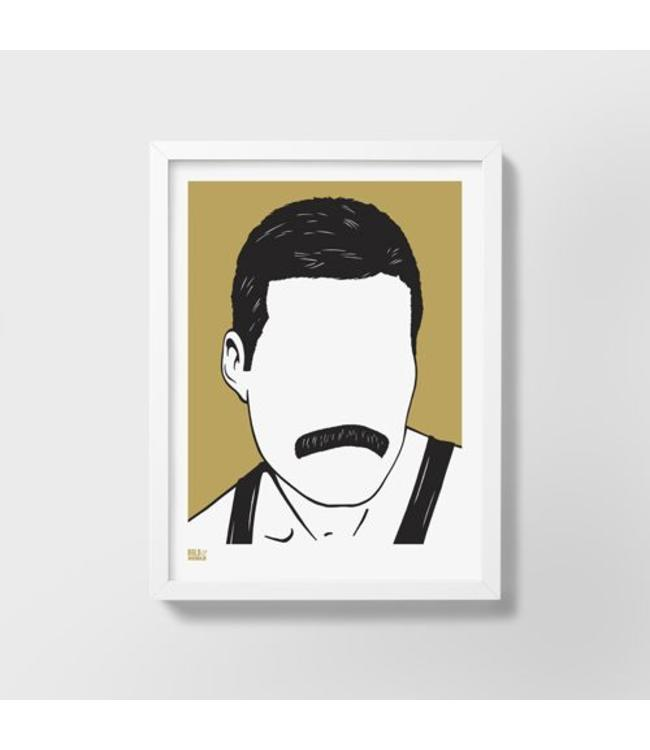 Bold & Noble Freddie Mercury screen print