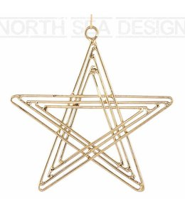 House Doctor Metal Gold star