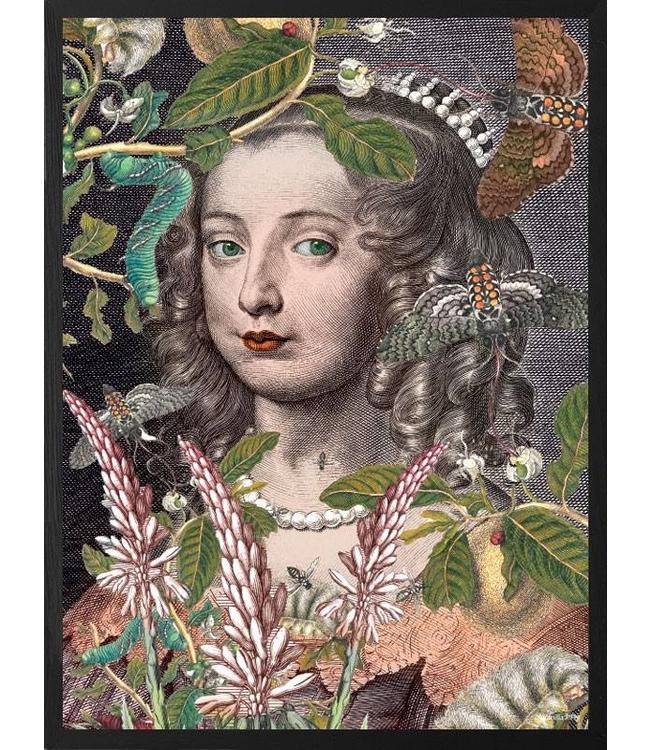 Vanilla Fly Retro Poster Queen Fleur  | 20x25
