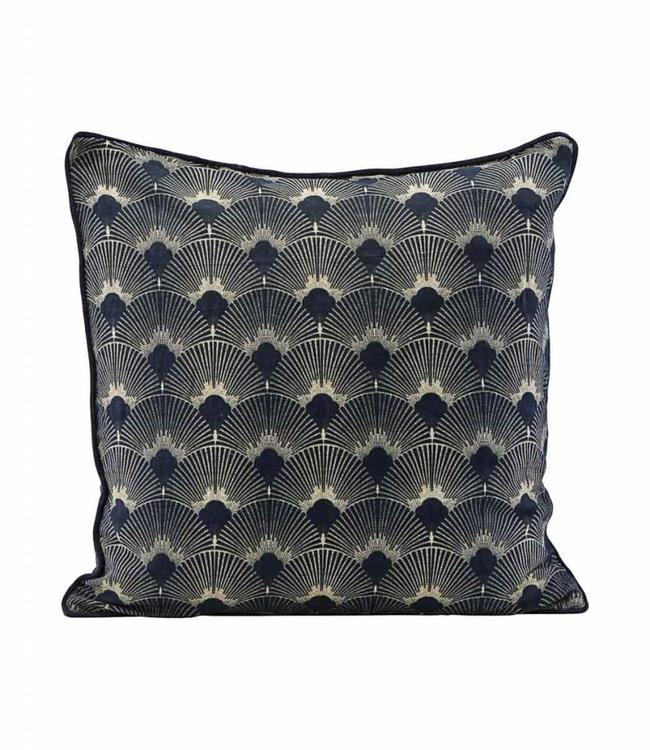 House Doctor Deep dark blue Pillow Case Ananda