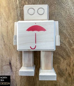 Studio Hamerhaai Rijkswachter Small | Paraplu rood