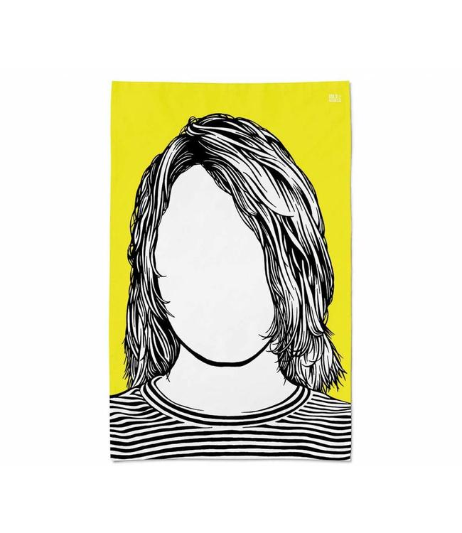 Bold & Noble Icons Tea Towel Kurt Cobain Nirvana