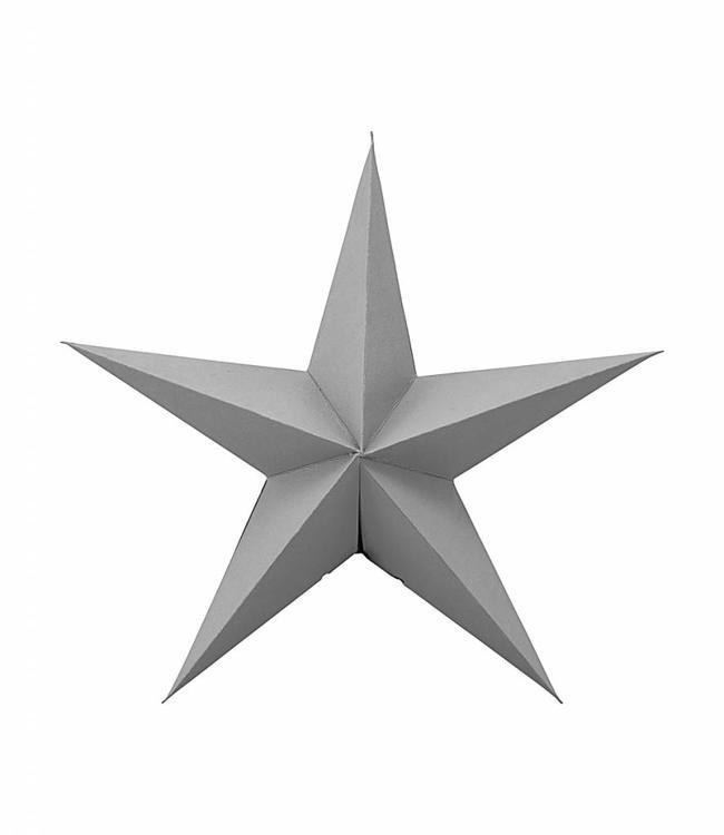 Ornament Star Grey