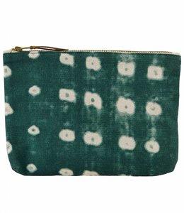 Cosmetic Bag | Dots Green