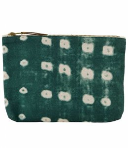 House Doctor Cosmetic Bag | Dots Green