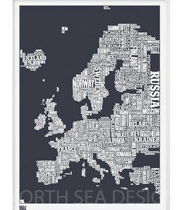 Bold & Noble Type Map Europe