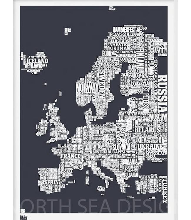 Bold & Noble Screen print Europe