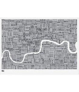 Bold & Noble Type Map London