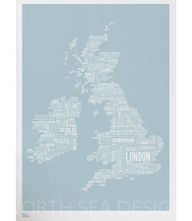 Bold & Noble Screen print Poster UK