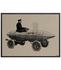 Poster Fast Car | 20x25 cm