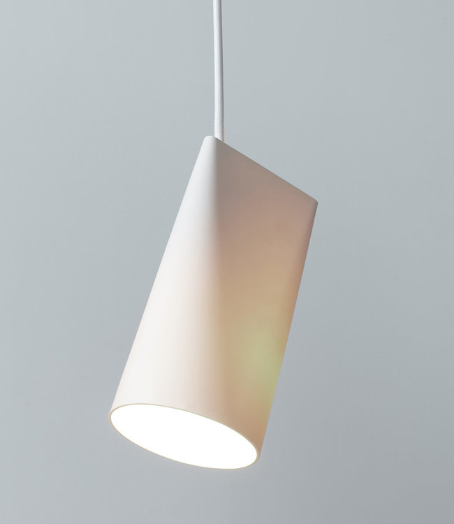 Moebe Ceramic Pendant Narrow White