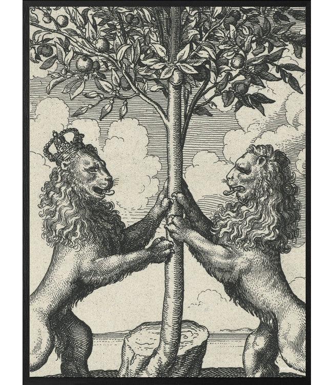 Vanilla Fly Vintage Poster Lions | 20x 25cm