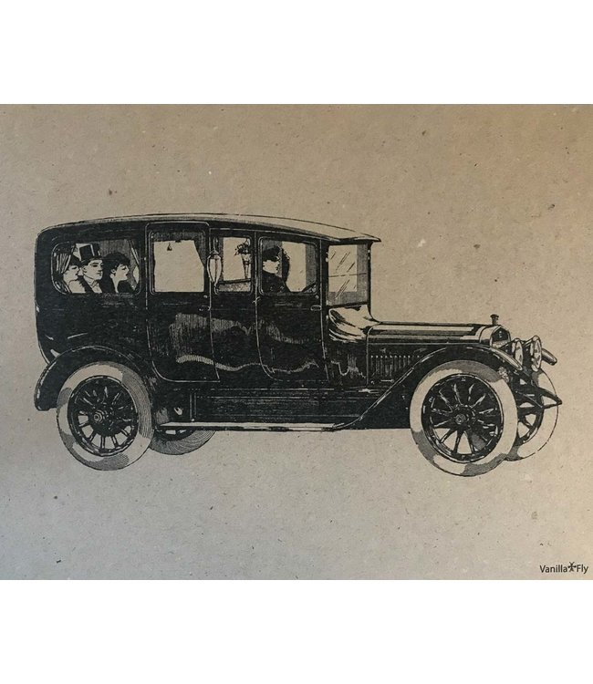 Vanilla Fly Print  Automobile | 20 x25 cm