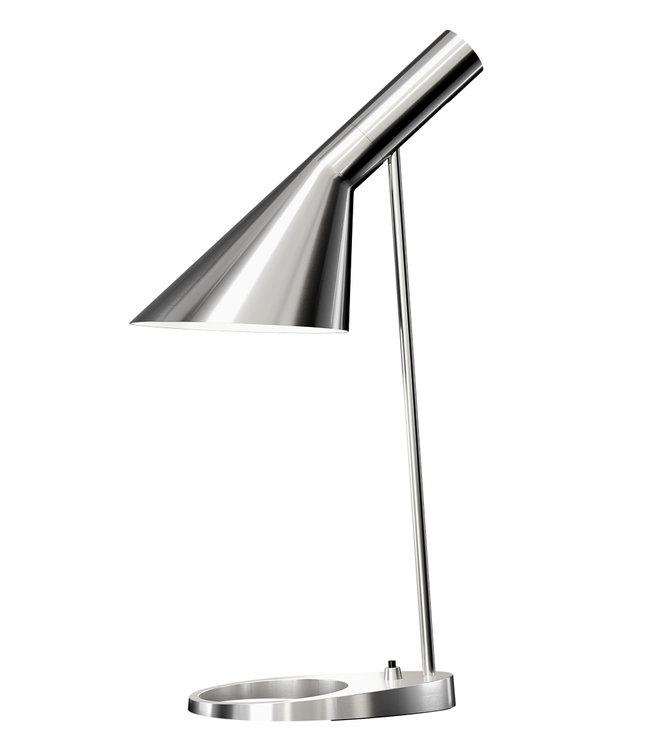 Louis Poulsen AJ Desk Lamp Polished Stainless Steel
