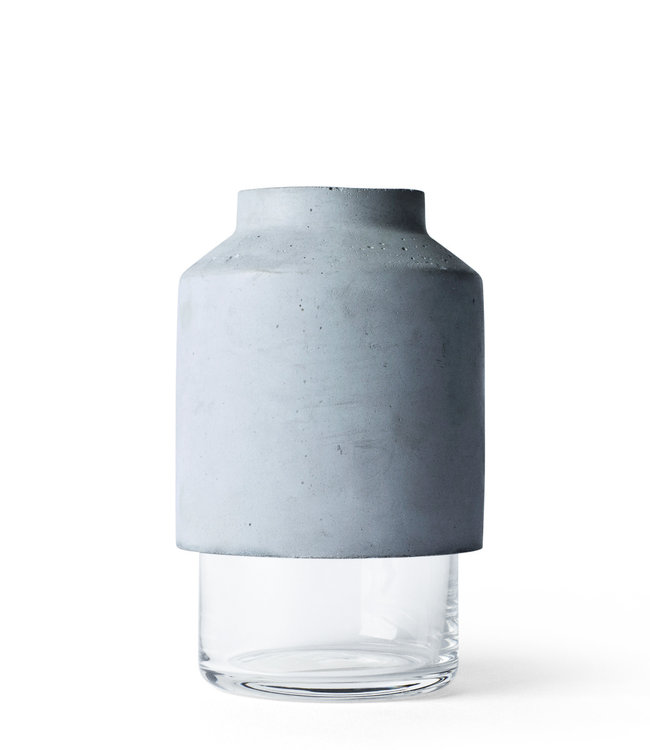 Menu Willmann Vase | Light grey concrete