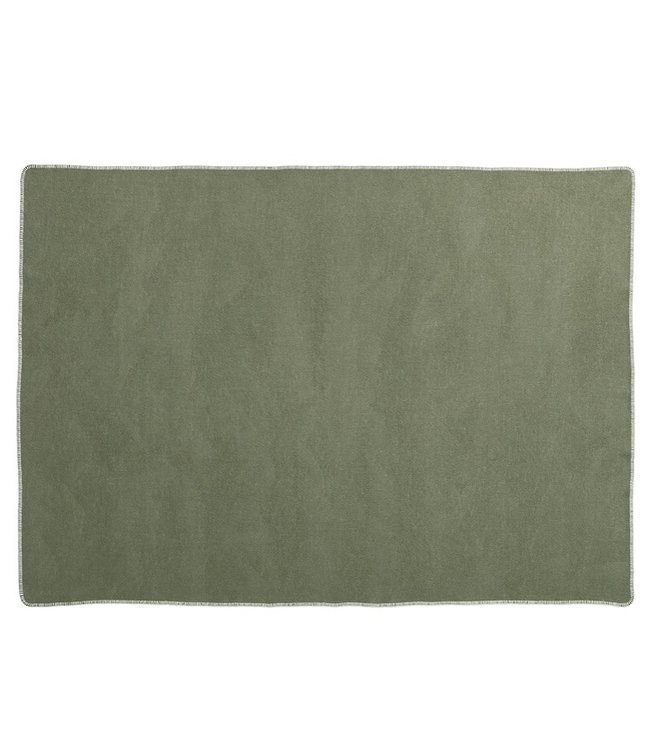 Pappelina Klippan Blanket Ylva Pine green