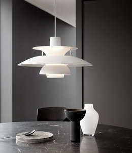 Louis Poulsen PH5 Monochrome Hanglamp Wit