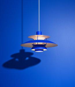 Louis Poulsen PH5 Mini  Monochrome Pendant Blue