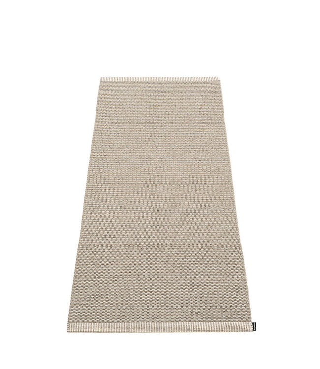 Pappelina Vloerkleed Mono Dark Linen 60x150cm