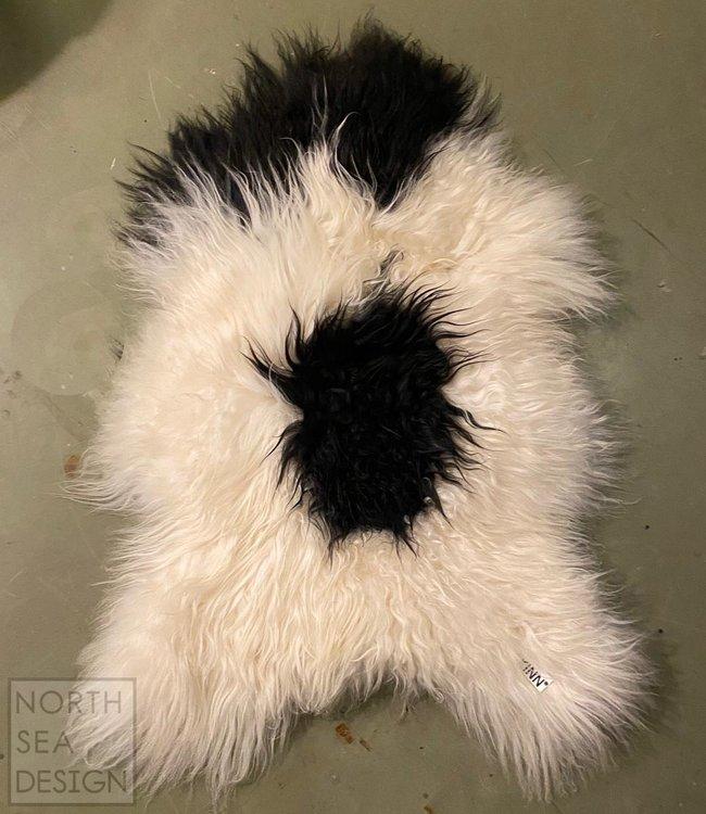 Dyreskinn Sheepskin long hair Black and White