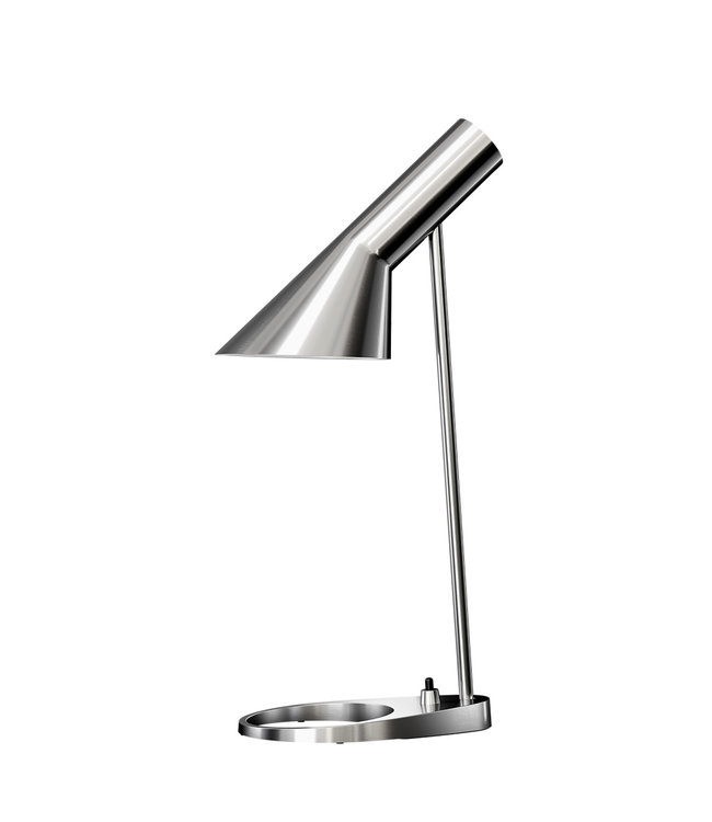 Louis Poulsen AJ Table Lamp Polished Stainless Steel mini