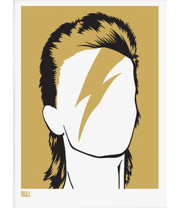 Zeefdruk David Bowie