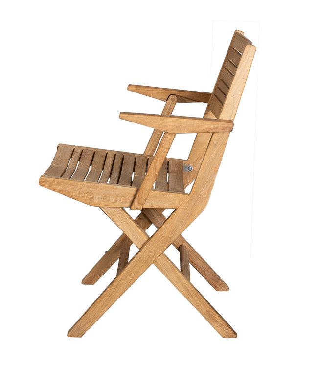 Cane-Line Flip folding outdoor armchair teak wood