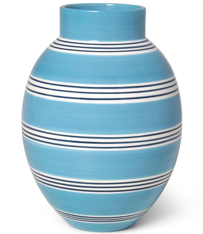 Kähler Design Vaas Omaggio Nuovo H30 Peacock Blue