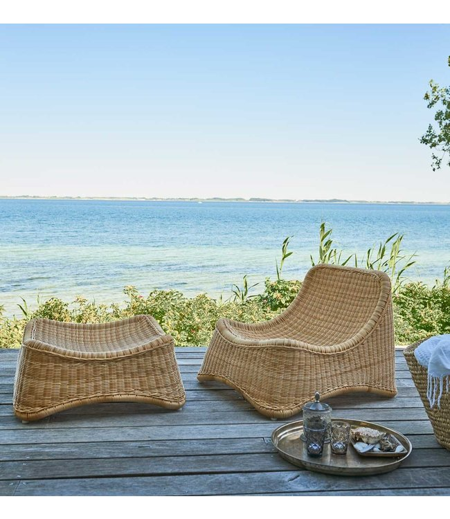 Sika Design Chill outdoor rattan Lounge chair Nanna Ditzel